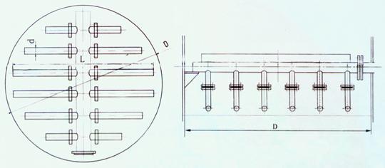 塔器安装结构示意图